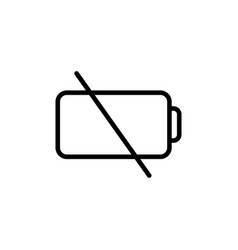 thin line low battery icon vector image vector image