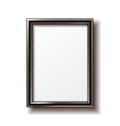 Wooden rectangular photo frame vector image vector image