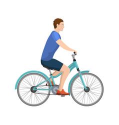 adult young man riding bicycles vector image vector image