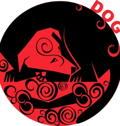 Chinese Horoscope dog vector image vector image