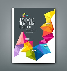 Cover report trends colorful geometric year design vector image vector image