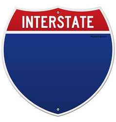 Isolated Interstate Sign vector image vector image