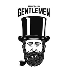 private gentlemen club gentleman in retro hat and vector image vector image