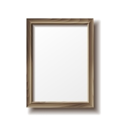 Wooden rectangular photo frame vector image