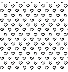 Abstract seamless heart pattern Hand draw heart vector image