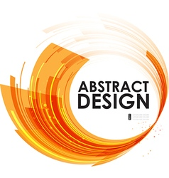 Abstract technology circles orange background vector image