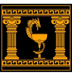 ancient pharmacy symbol vector image vector image