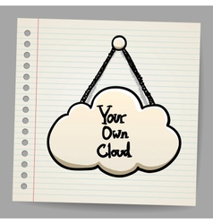 cloud communication in doodle style vector image vector image