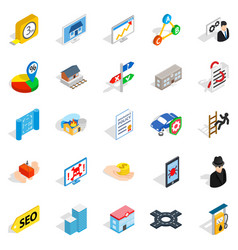 online chat icons set isometric style vector image vector image