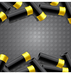 Background with ammunition for hunting vector image vector image