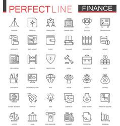 Business finance thin line web icons set money vector