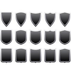 metal shields vector image