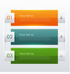 modern three steps infographic template design vector image vector image