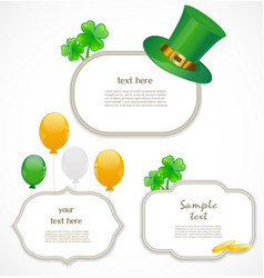 St Patrick day frames vector image vector image