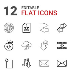 12 download icons vector image