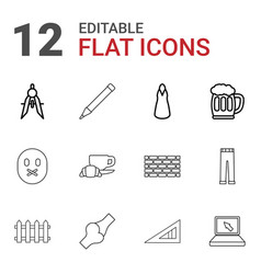 12 drawing icons vector