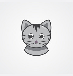 A cat face design on white background pet animals vector