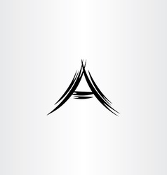 A logo letter black icon symbol vector