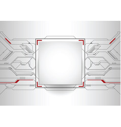 Abstract futuristic high computer technology vector