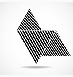 abstract triangles lines geometric shapes vector image
