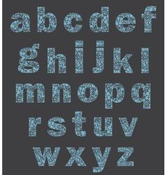 Alphabet of a part of a body vector image