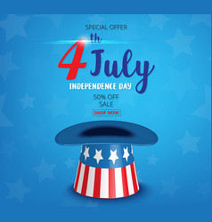 american independence day of 4th july vector image
