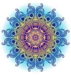 arabeska blue vector image
