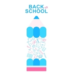 back to school pencil lines icons vector image