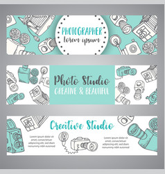 banners for photo studio or photographer hand vector image