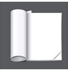 Blank magazine page vector