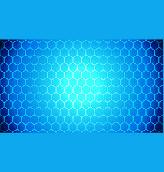 Blue gradient hexagon abstract background pattern vector
