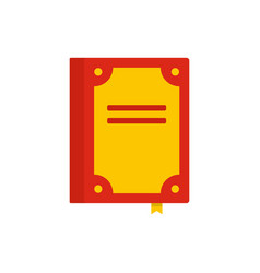 Book publication icon flat style vector