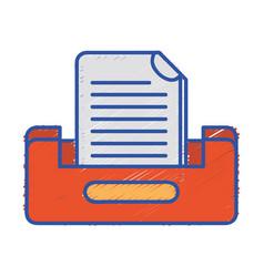 Buciness document file cabinet design vector