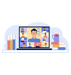 chat with friends online collective virtual vector image