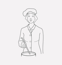 chef icon line element of vector image