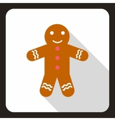 Christmas cookie icon flat style vector