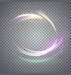 circular flare light effect vector image