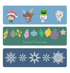 collection of colorful christmas banners vector image