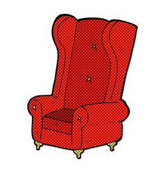 Comic cartoon old armchair vector