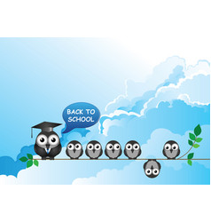 comical back to school teacher and students vector image