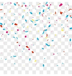 Confetti background over transparent grid vector