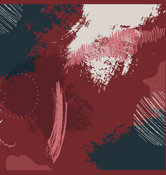 contrast dark red grunge pattern colorful hand vector image
