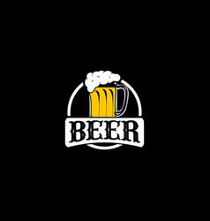 Craft beer logo design template vector