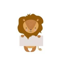 Cute animal character vector image