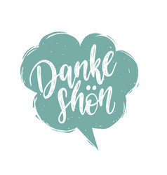 Danke shon calligraphy german translation vector