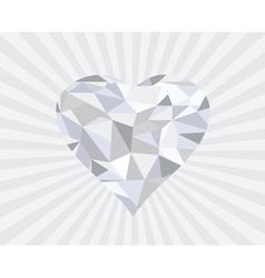 Diamond heart s vector