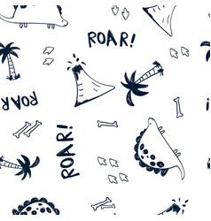 dinosaur seamless pattern print design vector image