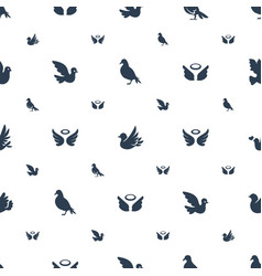 dove icons pattern seamless white background vector image