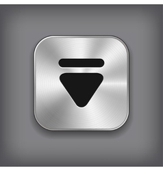Down arrow icon - metal app button vector