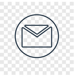 envelope concept linear icon isolated on vector image
